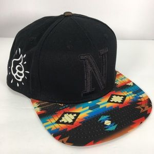 Jeff by Mac Miller native print snap back NWOT